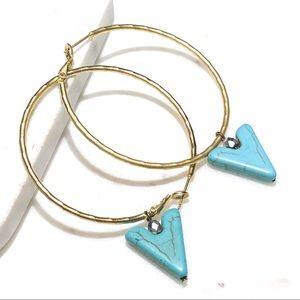 Francesca's rustic style hoop earrings
